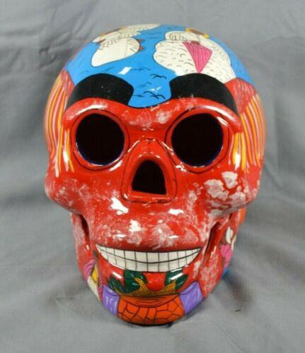 Hand-painted Ceramic Sugar Skull Made in Mexico Calavera Dia de los Muertos