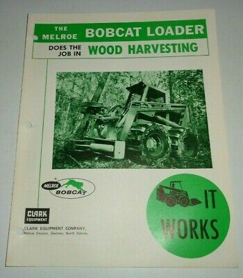 Bobcat M-970 Skid Steer Loader Wood Harvesting Sales Brochure Original 474