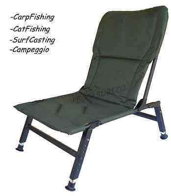 sedia da pesca carpfishing surfcasting siluro capeggio poltroncina chiudibile