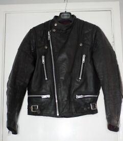 Vintage leather Jacket 38' Biker jacker Cafe Racer.