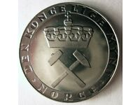 Norway Bin #4 1941 NORWAY 5 ORE FREE SHIPPING Excellent Vintage Coin