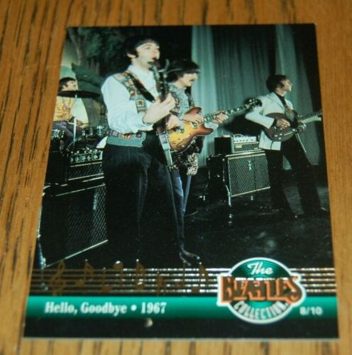 1993 River Group Beatles Doubled Sided 8/10  #1 HITS CARD FOIL CHASE SUBSET