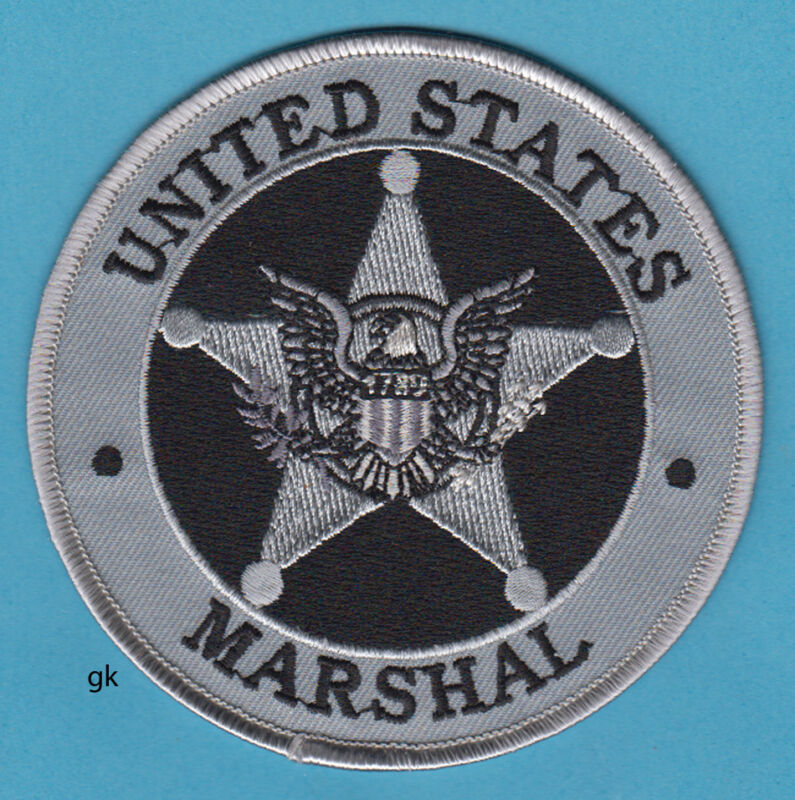 """US MARSHAL SHOULDER PATCH POLICE GRAY 4"""""""