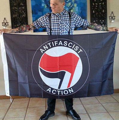 3x5 Antifa Flag (Antifascist Action RASH SHARP Skinhead)