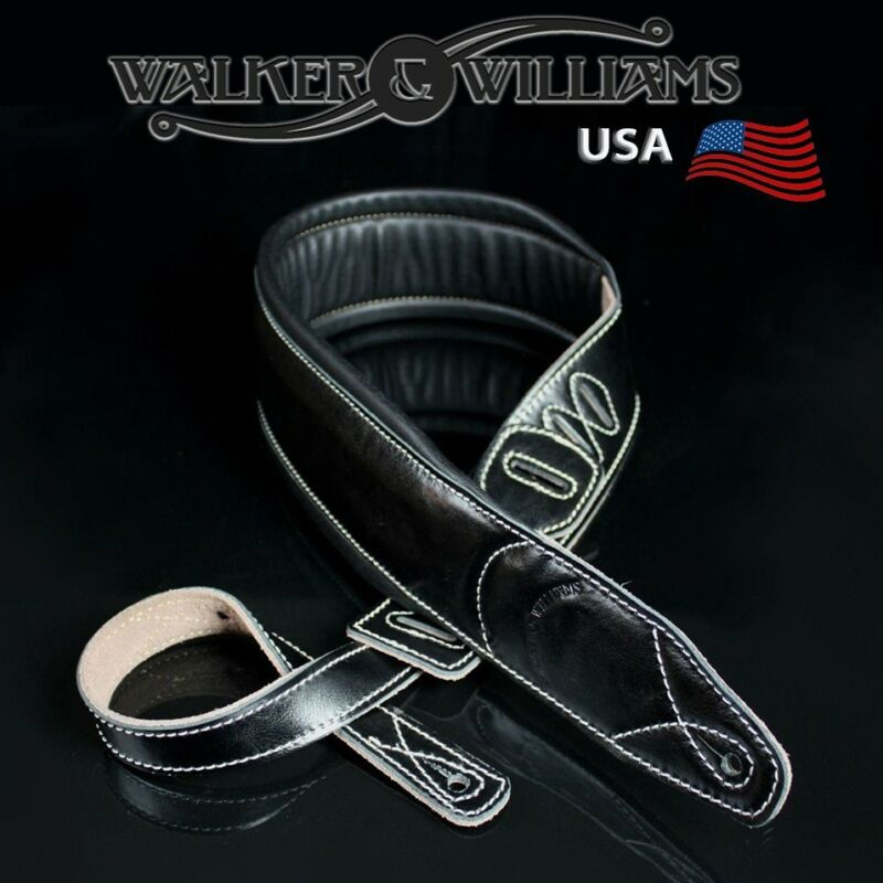 Walker & Williams C-22 Extra Wide Double Padded Black Leath