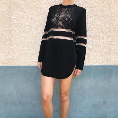 Sold Out Alexander Wang x H&M Black Mesh Shirt Dress Romantic Rare