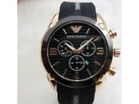 men's black fashion watch