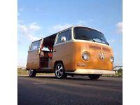 1971 volkwagen deluxe bay window campervan.restored.
