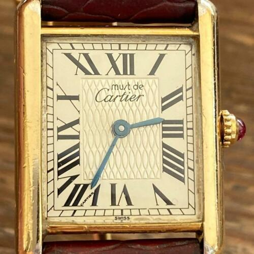 CARTIER TANK REF. 1847/1997 LIMITED EDITION VERMEIL WATCH 100% GENUINE RARE - watch picture 1