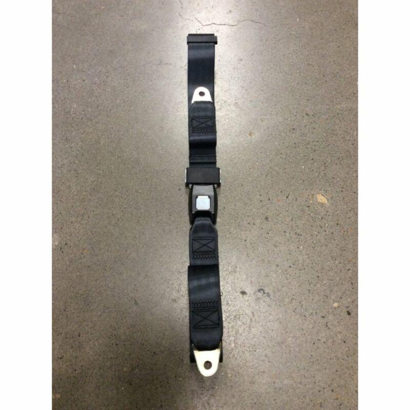 2pt Black Lap Seat Belt Standard Buckle - Each v8 hot rod muscle car gm chevy v6