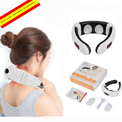 Masajeador electrico de cuello, fisioterapia Cervical,alivio de dolor,-6 modos-
