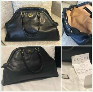 3d6b60c2d1f1 Gucci RE(BELLE) large top handle bag BLACK