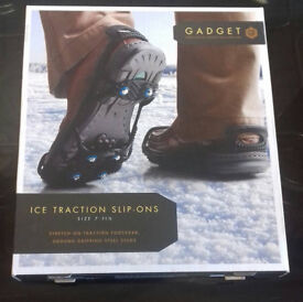 anti slip ice traction shoe covers size 7