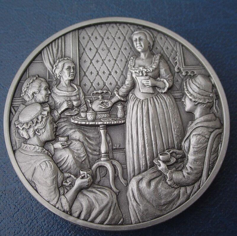 DAR Medal - PENELOPE PAGETT BARKER, American Revolutionary War. Great Women