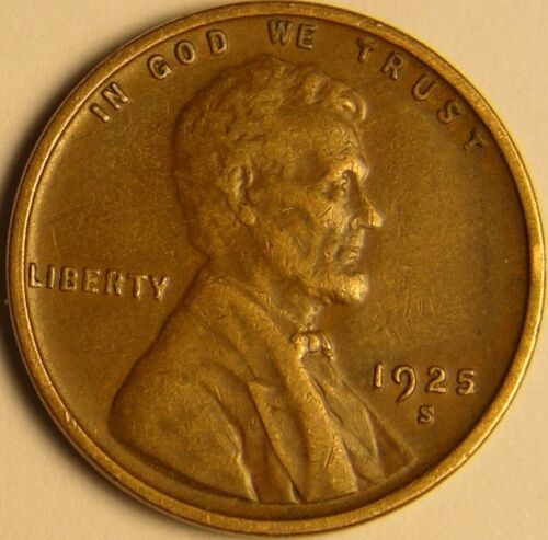 1925 S Lincoln Wheat Penny - G/VG