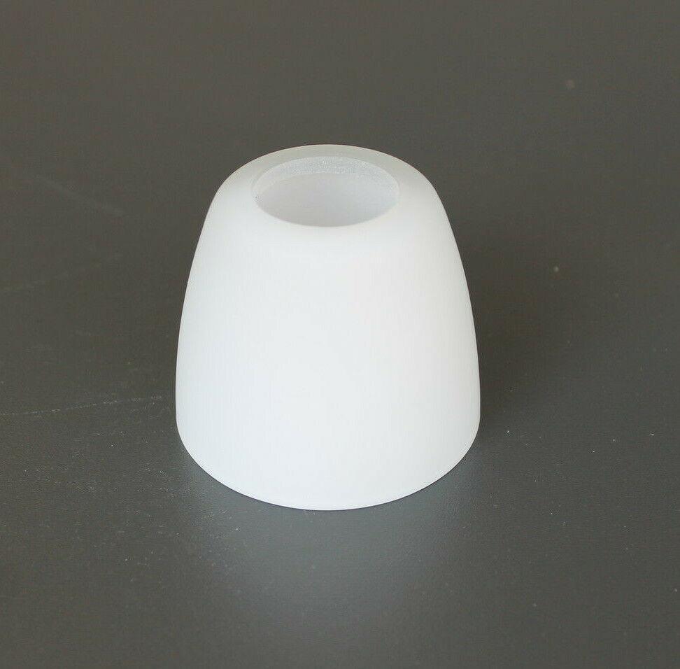 Glas Lampenschirm Ersatzglas Kegel weiß E14 Lochmaß Fassung ø 30 mm