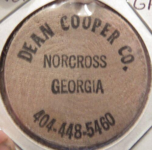 Vintage Dean Cooper Co. Norcross, GA Wooden Nickel - Token Georgia