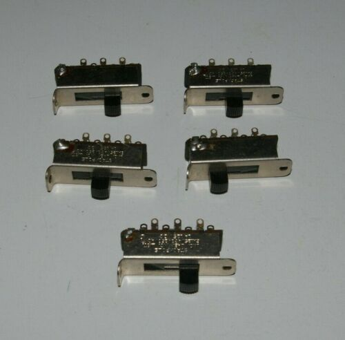 (Lot of 5) Stackpole 4 Position Slide Switch 6A 125V AC, 3A 250V AC, 1A 125V DC