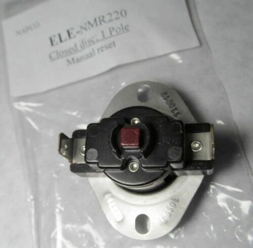 NEW THERMODISC/ NAPCO 60TX15 L220F MANUAL RESET LIMIT SWITCH CLOSED DISC