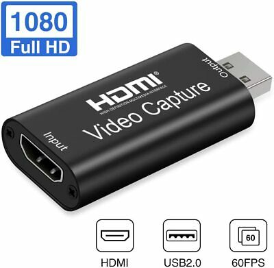 Adaptador USB 2.0 a HDMI Conversor 1080P 60FPS HD Dispositivo De Transmisión