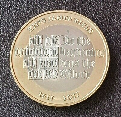 2011 Elizabeth II £2 Two Pound PROOF Coin, King James Bible (M)