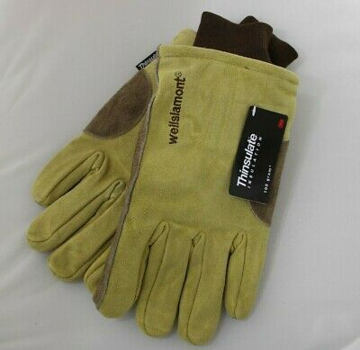 New Wells Lamont Insulated Suede Winter Work Gloves Mens Size Extra Large