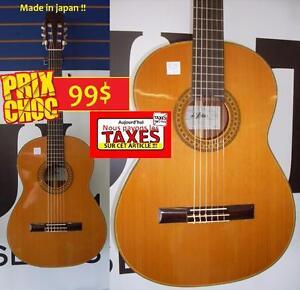 AUJOURD'HUI PAS DE TAXES - Guitare classique made in japan ARIA A551 ET BIEN PLUS!