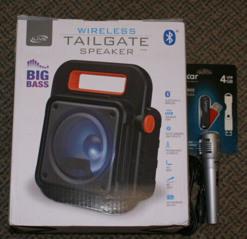 iLive ISB309B Tailgate Party Speaker Supports Bluetooth V5.0 NEW BONUS EXTRAS!