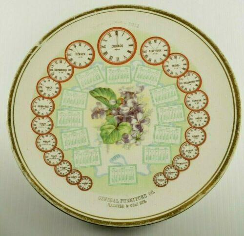 Vintage 1911 General Furniture Co. Advertising Halsted OH Calendar Plate