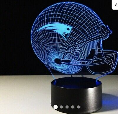 New England Patriots Collectible LED Light Touch Lamp Tom Brady Crack Paint Gift New England Patriots Collectibles