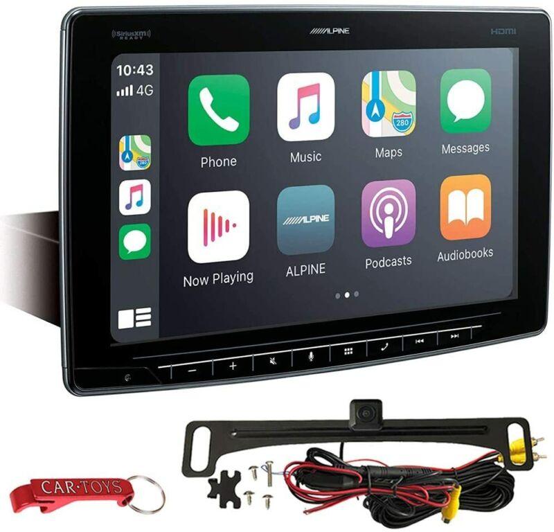 "Alpine Halo11 iLX-F411 11"" Apple CarPlay/Android Auto Car Stereo + Backup Camera"