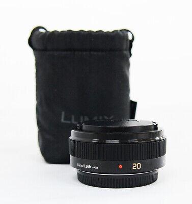 # Panasonic Lumix G 20mm f/1.7 II Aspherical AF G Lens (Black) S/N 101316