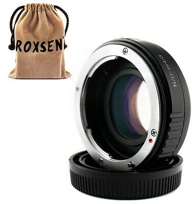 Focal Reducer Speed Booster Adapter Nikon F mount G lens to Micro 4/3 GX7