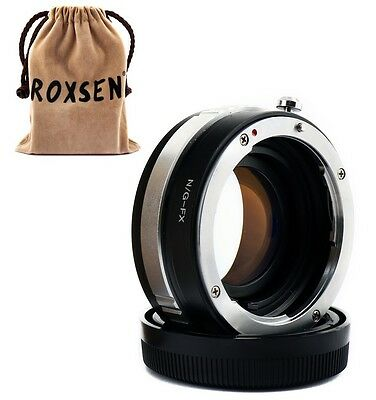 Focal Reducer Speed Booster Adapter Nikon F mount G lens to Fujifilm X-E2 T1