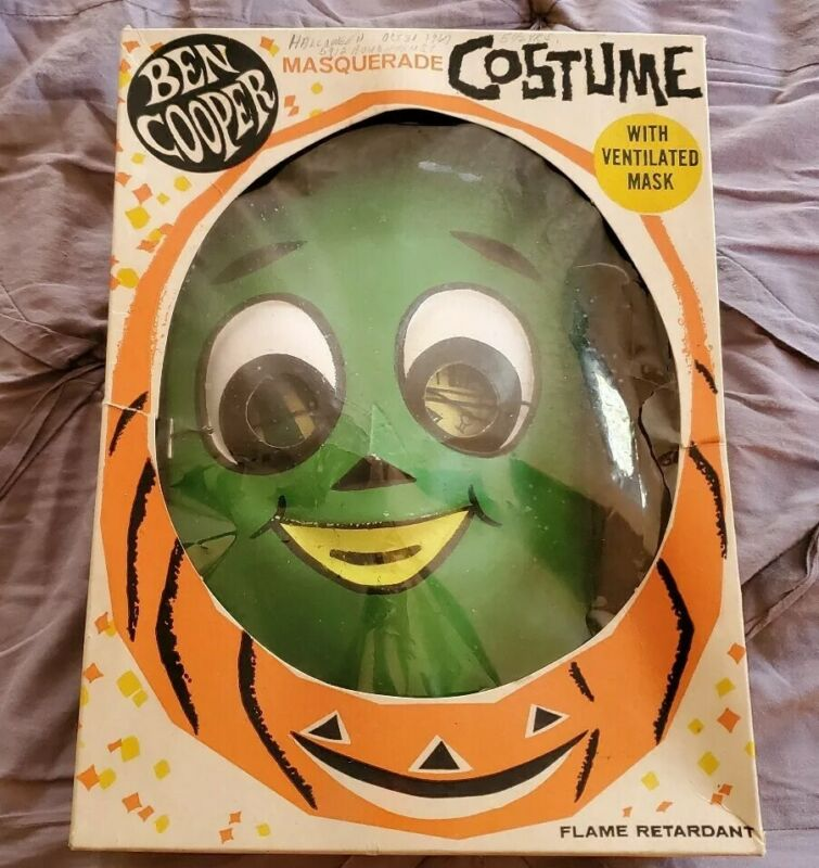 """1967 """"GUMBY"""" Lakeside Toy Vintage BEN COOPER HALLOWEEN COSTUME In The BOX-Rare"""