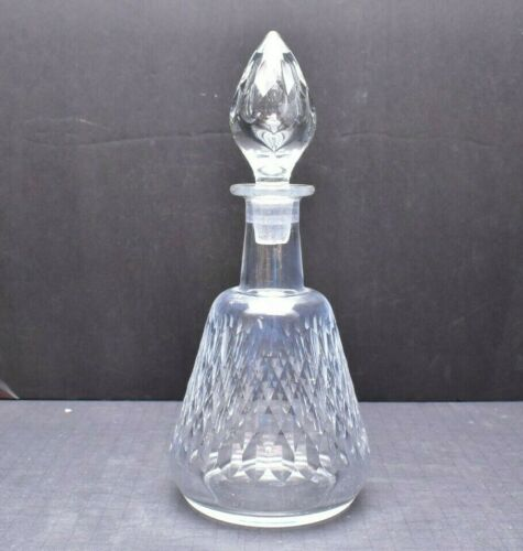 "Baccarat Crystal 12"" Armagnac Decanter And Stopper Signed French"
