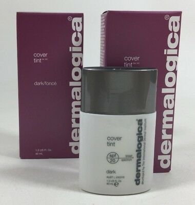 (2X) Dermalogica Cover Tint SPF 20 Dark 1.3 Fl Oz. Best by 4/15 * NIB New In