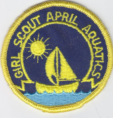 Girl Scouts Badge Patch ~Girl Scout April Aquatics Sailboat~Pre-Owned