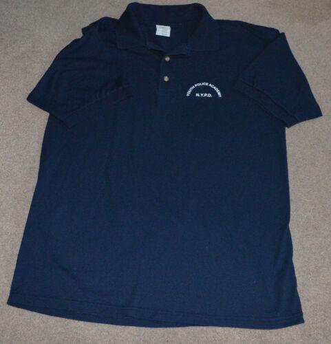 NYPD Youth Police Academy Polo Golf Shirt Large NYC NY