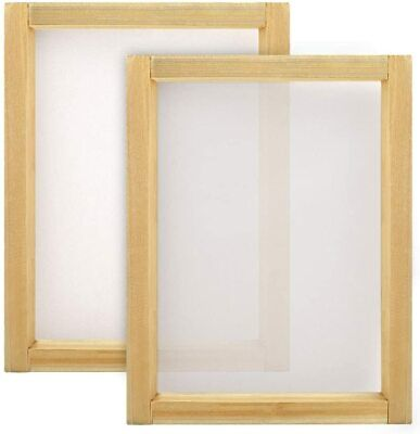 Caydo 2 Pieces 10 X 14 Inch Large Wood Silk Screen Printing Frames With 110 Whit