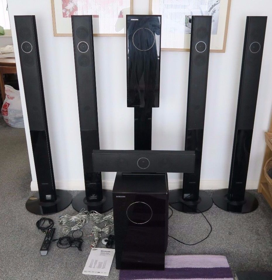 samsung ht txq120 5 1 home theater system tallboy dvd. Black Bedroom Furniture Sets. Home Design Ideas