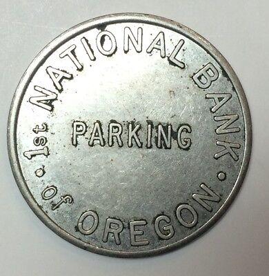 First National Bank of Oregon (Portland) parking token