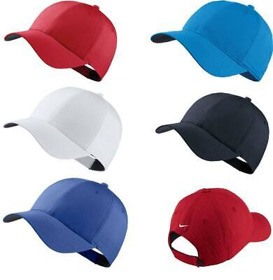 NEW Nike SWOOSH BASEBALL CAP PLAIN DRI FIT GOLF LEGACY FITTED PEAK HAT
