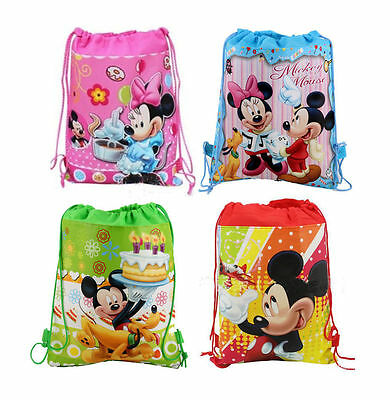 Hot Kid Miecky Minnie Mouse Mix Cartoon Drawstring Backpack School Bag Wholesale Minnie Mouse Cartoons