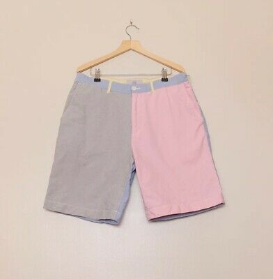 Jack Spade Pink Blue Grey Chino Shorts W32