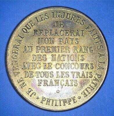 FRANCE 1900 PHILIPPE DUC D ORLEANS - POLITICAL PLATFORM MEDALLION - 86593321 - $12.00