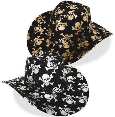 Cowboy-Hut Totenkopf Halloween Cowboyhut Skull Gothic Line Dance 58 cm 123824913 Cowboy-hut Halloween