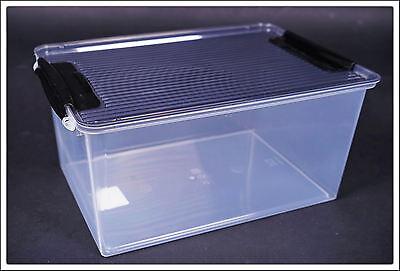 5er Set Klarsichtbox mit Deckel - transparent - Aufbewahrungsbox Box Allzweckbox