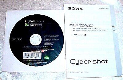 Sony Cyber-Shot Digital Camera DSC-W320/W330 CD & Manual   Sony Digital Camera Manual