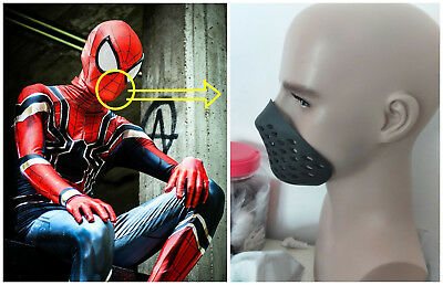 Spiderman Mouth Faceshell Soft Non-Toxic Rubber Spider-man Breathing Half Mask